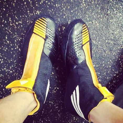 @yysbeast: Feeling good♡ Received boxing shoes as a gift! Heuheuheu